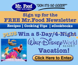 Disney Vacation Giveaway Signup 300x250 Enter to Win a Walt Disney World Resort® Vacation!